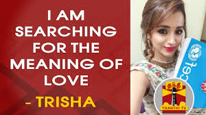 trisha becomes unicef advocate i am searching for the