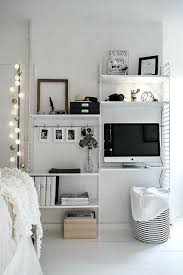 best of tiny desk small bedroom space decorating ideas best white decor on workspace