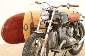 bmw motorcycle vintage vintage bmw motorcycle and surfboard combo defines style