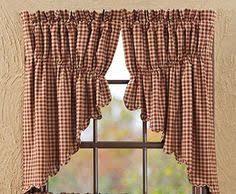 Prairie Curtains Black And Tan Prairie Curtain Primitive Country Window Curtain