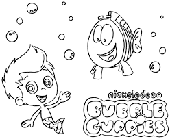 deema bubble guppies coloring pages cartoon of throughout bubble