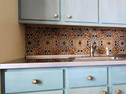moroccan tile backsplash contemporary kitchen design with brown