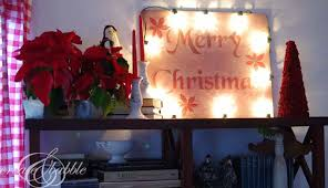 merry christmas sign in lights create and babble