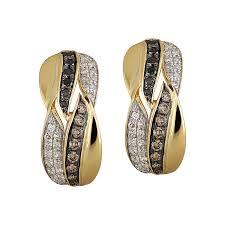 cercei de aur aur 18k diamante diamante negre diamante maro deruvo