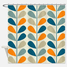 Blue And Orange Curtains Creative Design Orange And Blue Shower Curtain Beautiful Ideas