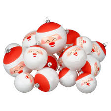 Christmas Ornament Storage Michaels by Find The Red U0026 White Santa Face Ball Ornaments By Ashland At Michaels