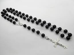 rosary bead necklace jewelry images New black plastic rosary beads necklaces for men and women beckham jpg