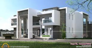 flat roof arabian house plan kerala home design and arabic home