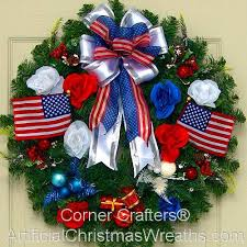 patriotic christmas wreath artificialchristmaswreaths com