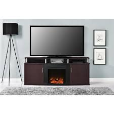altra furniture carson black and cherry entertainment center