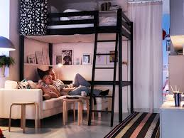 Loft Beds Cozy Ikea Loft Bed Stora Design Kids Bedroom Kids - Ikea bunk bed room ideas