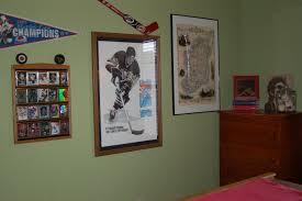 kid bedroom captivating hockey themed boy bedroom decoration