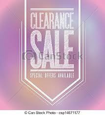 vectors illustration of pink lights clearance sale poster sign
