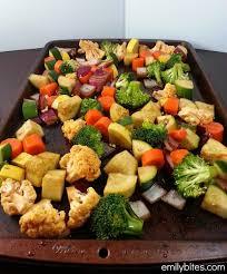 balsamic roasted vegetables emily bites