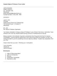 amazing sample cover letter for adjunct faculty position 76 with