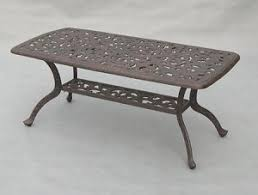 60 Patio Table Patio Furniture Table Coffee Cast Aluminum Series 80