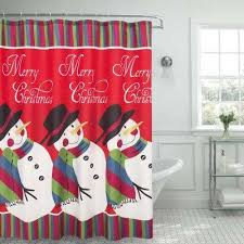 Red Black Shower Curtain Red Bath Accessories Bath The Home Depot