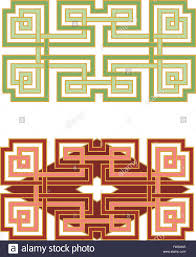 abstract designs based on asian knotwork patterns carved into jade