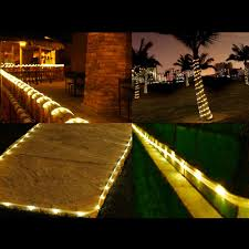 outdoor tube lighting le 50 leds solar lights 5m waterproof outdoor path lights