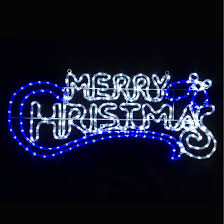 merry christmas signs blue white led merry christmas rope light sign xs stock