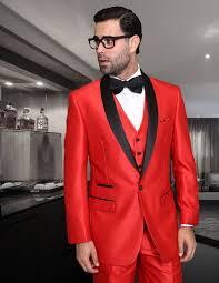 statement red modern fit 3 piece shawl collar tuxedo enzo 7