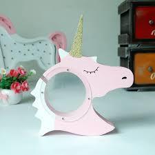 piggy bank party favors cutiepie unicorn piggy bank for coins wood craft gift kids party