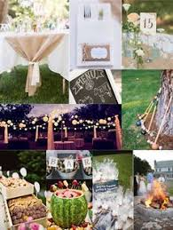 Backyard Wedding Setup Ideas Simple Long Tables With Folding Chairs Make Perfect Reception