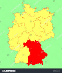 Blank State Map Bavaria State Map Germany Vector Map Stock Vector 307057088