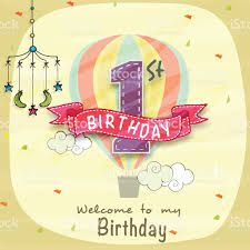 Free Invitation Card Design Kids 1st Birthday Invitation Card Design Stock Vector Art