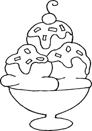 free printable ice cream coloring pages for kids for sundae page