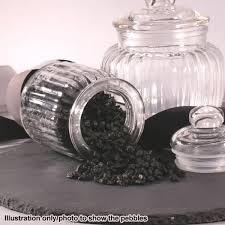 Vase Rocks 750g Black Decorative Stones For Vases Natural Craft Pebbles