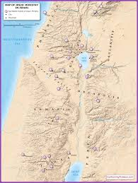 Israel World Map Map Of Jesus U0027 Ministry In Israel Jesus U0027 Ministry Sites In Palestine