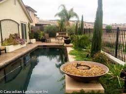 outdoor u0026 garden modern ponds with fire pit design and concrete