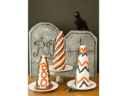 Candy Topiary Centerpieces - creative ways to use halloween candy from food network and hgtv