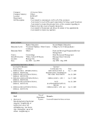 Cosmetologist Job Description For Resume by Updated Resume Mine