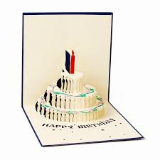 pop up birthday card happy birthday blessing creative kirigami 3d pop up gift greeting