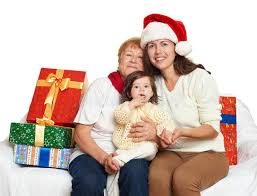 gifts for elderly grandmother happy family with box gift woman with child and elderly