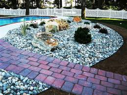 Garden Stone Ideas by Interesting Decoration Colored Landscape Stones Awesome Decorative