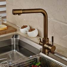 Antique Kitchen Sink Faucets Antique Brass Deck Mounted Kitchen Sink Faucet