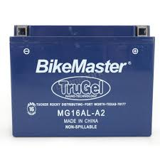 bikemaster trugel 12 volt battery mg16al a2 motorcycle