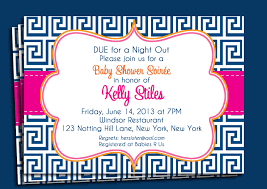 navy and pink invitation printable or printed with free