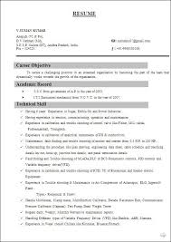 Download Fresher Resume Format Iti Resume Format Automobile Resume Template 22 Free Word Pdf
