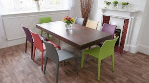 Argenta Coloured Faux Leather Chair Modern Funky Colours Stackable - Funky kitchen tables and chairs