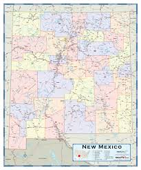 New Mexico Counties Map by New Mexico Counties Wall Map Maps Com