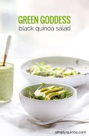 green goddess black quinoa salad simply quinoa