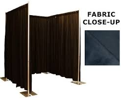pipe and drape kits 8 foot changing room privacy booth kit with commando drapes