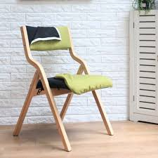 Folding Chair Fabric Solid Wood Folding Chair Dining Chair Fabric Washable Simple