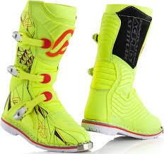 cheap kids motocross boots acerbis shark junior motocross boots offroad yellow black acerbis