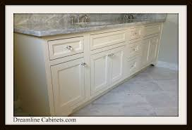 white inset dreamline cabinets