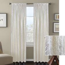 Silver Window Curtains Better Homes And Gardens Distressed Herringbone Metallic Gold Or
